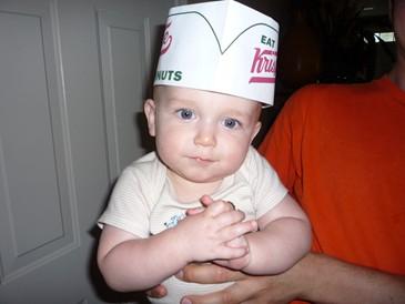 Alex Krispy Kreme Hat.JPG